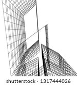 architectural drawing 3d | Shutterstock .eps vector #1317444026
