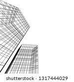 architectural drawing 3d | Shutterstock .eps vector #1317444029