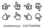 finger pointer   finger arrow... | Shutterstock .eps vector #1317446906