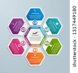 hexagon options infographics... | Shutterstock .eps vector #1317449180