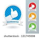 vector set guarantee labels | Shutterstock .eps vector #131745008