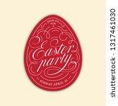 calligraphic flourish lettering ... | Shutterstock .eps vector #1317461030