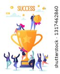 successful business people with ... | Shutterstock .eps vector #1317462860