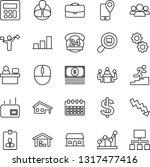 thin line icon set   dispatcher ... | Shutterstock .eps vector #1317477416
