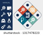manual icon set. 13 filled... | Shutterstock .eps vector #1317478223