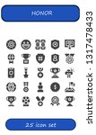 honor icon set. 25 filled honor ... | Shutterstock .eps vector #1317478433