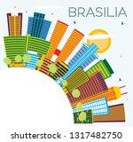 brasilia brazil city skyline... | Shutterstock .eps vector #1317482750