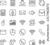 thin line icon set   phone... | Shutterstock .eps vector #1317482873