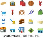 color flat icon set cake flat... | Shutterstock .eps vector #1317483443