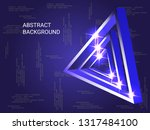 triangle metal sparkle on... | Shutterstock .eps vector #1317484100