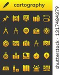 cartography icon set. 26 filled ...   Shutterstock .eps vector #1317484379