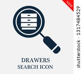 search drawers icon. editable... | Shutterstock .eps vector #1317484529