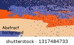 trendy multicolored stripes... | Shutterstock .eps vector #1317484733