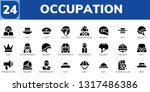 occupation icon set. 24 filled... | Shutterstock .eps vector #1317486386