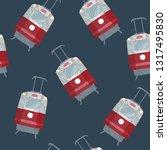 tram  satin stitch or damask... | Shutterstock .eps vector #1317495830
