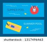 swimming pool vector banner... | Shutterstock .eps vector #1317496463