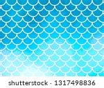 blue mermaid scales. fish... | Shutterstock .eps vector #1317498836