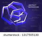 metal polygons sparkle on the... | Shutterstock .eps vector #1317505130