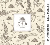 background with chia  plant and ... | Shutterstock .eps vector #1317508166