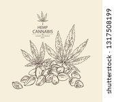 background with hemp  cannabis... | Shutterstock .eps vector #1317508199