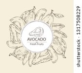 background with avocado and... | Shutterstock .eps vector #1317508229