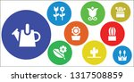 flora icon set. 9 filled flora... | Shutterstock .eps vector #1317508859