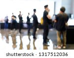 abstract blur people in press... | Shutterstock . vector #1317512036