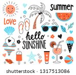 collection of hand drawn... | Shutterstock .eps vector #1317513086