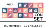 pizza icon set. 19 filled pizza ... | Shutterstock .eps vector #1317516689