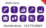 walk icon set. 10 filled walk... | Shutterstock .eps vector #1317516869