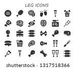 leg icon set. 30 filled leg... | Shutterstock .eps vector #1317518366
