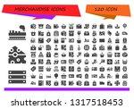 merchandise icon set. 120... | Shutterstock .eps vector #1317518453