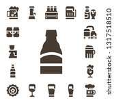 pint icon set. 17 filled pint...   Shutterstock .eps vector #1317518510