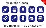 preparation icon set. 10 filled ... | Shutterstock .eps vector #1317519149