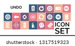 undo icon set. 19 filled undo... | Shutterstock .eps vector #1317519323