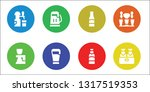 pint icon set. 8 filled pint...   Shutterstock .eps vector #1317519353