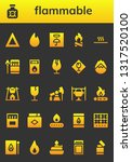 flammable icon set. 26 filled... | Shutterstock .eps vector #1317520100