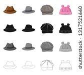 vector design of headgear and... | Shutterstock .eps vector #1317521660