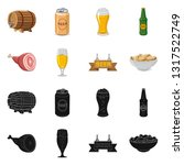 isolated object of pub and bar... | Shutterstock .eps vector #1317522749