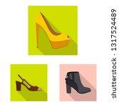 vector design of footwear and... | Shutterstock .eps vector #1317524489