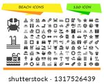 beach icon set. 120 filled... | Shutterstock .eps vector #1317526439