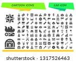 Cartoon Icon Set. 120 Filled...