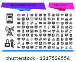 television icon set. 120 filled ... | Shutterstock .eps vector #1317526556
