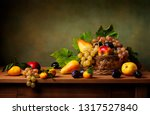 Still Life With Apple  Grapes ...