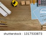 drawing tools with millimeter... | Shutterstock . vector #1317533873