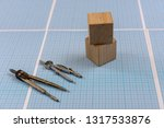 millimeter paper with draw... | Shutterstock . vector #1317533876