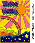 1960s psychedelic poster ... | Shutterstock .eps vector #1317537359