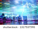 stock market graph chart. the... | Shutterstock . vector #1317537590
