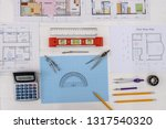 drawing tools with house... | Shutterstock . vector #1317540320