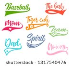 texting tails. colored swoosh... | Shutterstock .eps vector #1317540476